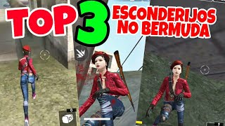 Top 3 esconderijos no mapa bermuda pra subir rank😎