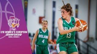 Slovakia v Ireland - Full Game - FIBA U18 Women's European Championship Division B 2019