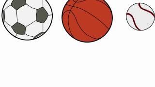 Учимся рисовать футбольный мяч, волейбольный и мячик для тенниса