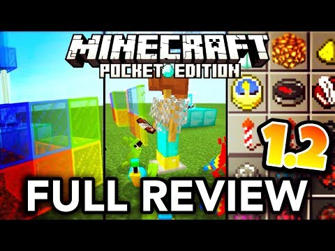MCPE 1.2 FULL REVIEW // All new MCPE 1.2 beta features (Minecraft PE 1.2 changelog)