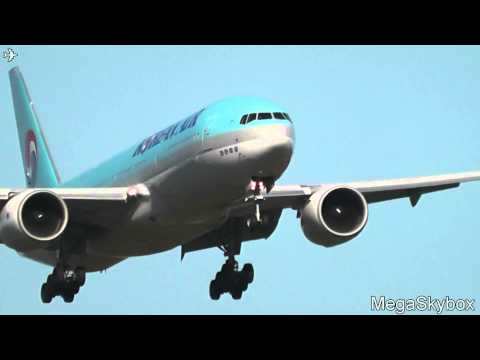 Korean Air Boeing 777-2B5ER HL7575 approach/landing at Sheremetyevo - Moscow - (UUEE / SVO)