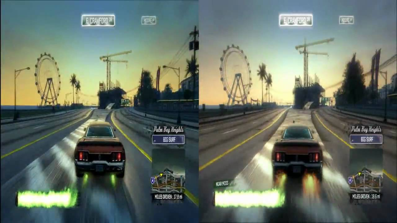 burnout paradise pc comparison with enbseries graphics mod hd youtube. Black Bedroom Furniture Sets. Home Design Ideas