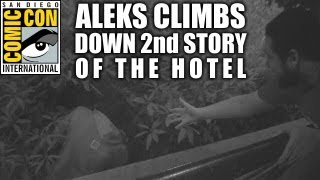 Aleks Climbs Down the 2nd Story of the Hotel for a Drink (SDCC 2013)