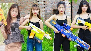 Xgirl Nerf War: Top 5 Episodes Warriors X Girl Team Nerf Guns Criminal Group Compilation