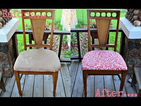How To Upholster Reupholster A Dining Room Chair How To