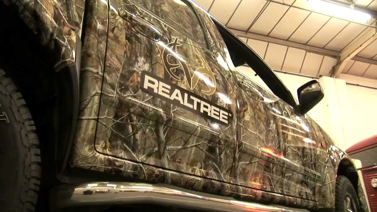Awesome Realtree Camo Truck Wraps Youtube