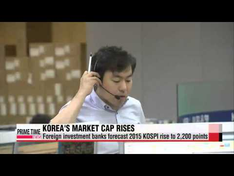 Korea′s stock market moves up to 11th spot on global ranking   한국 증시 시가총액 세계 11위