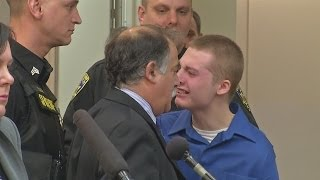 Teen cries out during sentencing