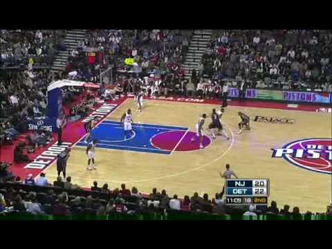 NBA 2008-09 season Pistons VS Nets 2008.12.31 PART 4