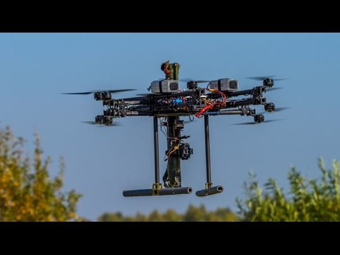 Russian combat drone footage: Military anti-tank multicopter in action