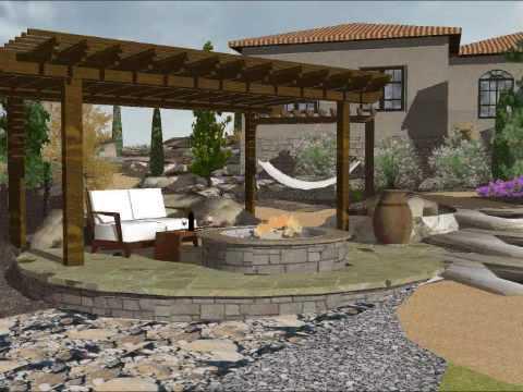 Sketchup 3d landscape design youtube for Garden design in 3d using sketchup