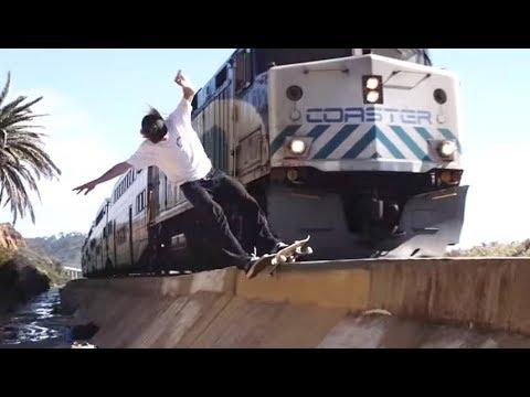 INSTABLAST! - HURRICANE VS TRAIN! Bigflip UP Rail? HUGE Kickflip Melon, Krook Nollie Heel Boardslide