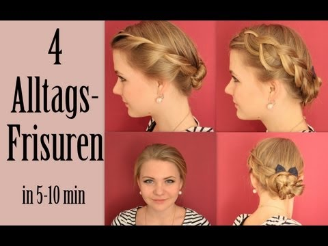 4 Alltagsfrisuren | 4 Everyday hairstyles (in 5-10 min)