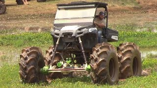 HUGE LIFTED POLARIS RANGER PULLS OUT MUD TRUCK!!!