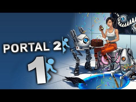 Let's Play Portal 2 Part 1: Fluchthilfe von Brad Pitt aka Wheatley