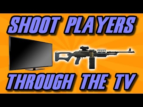 GTA 5 Online : How To Shoot Players Through The TV Glitch