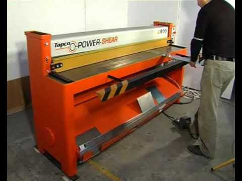Metal shearing and cutting machines