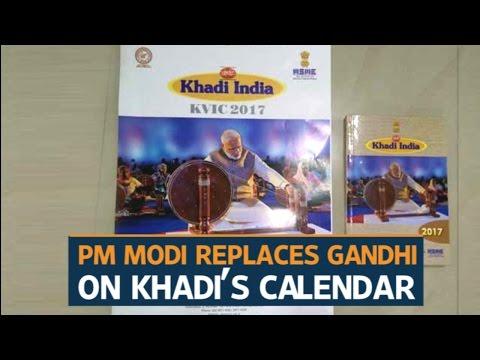 PM Modi replaces Gandhi in Khadi Udyog's calendar, diary
