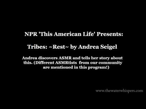 [Media & ASMR] NPR 'This American Life' broadcast about ASMR US radio