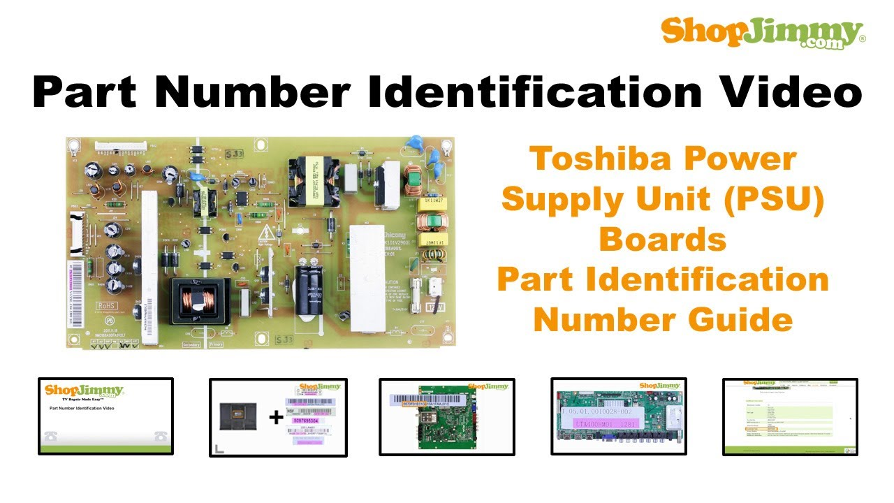 TV Part Identification Number Help Guide for Toshiba Power ...