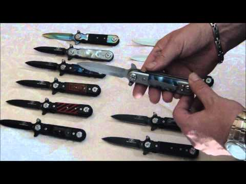Stiletto Spring Assist Knife Legal Automatic Knife - Knives Deal