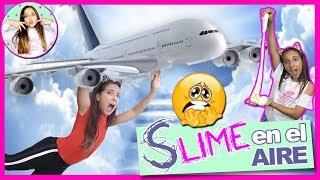 SLIME en el AVIÓN! 🛩 Mi primera vez en avión 🛫 CUMPLEAÑOS de CLODETT con LADY PECAS , ANI...