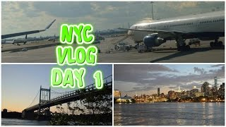 NEW YORK CITY VLOG / DAY 1 / FLIGHT,QUEENS & SKYLINE - (HD)
