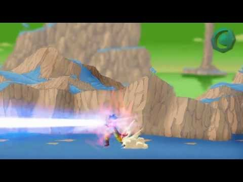Dragon Ball Z Broly Ssj5 Vs Goku Y Vegeta video