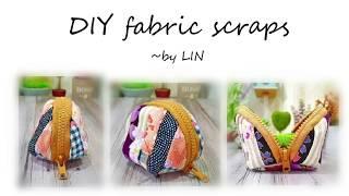 DIY FABRIC SCRAPS ‖ Cute coins purse tutorial #HandyMum