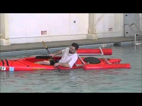 Crane Creek Kayaks Kayak Stabilizer Youtube