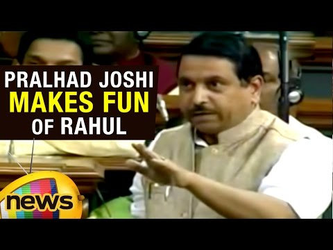 Pralhad Joshi Speech In Lok Sabha | Makes Fun Of Rahul Gandhi's Fair And Lovely Speech | Mango News