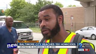 Baltimore city reaches 151 homicides