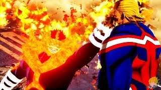 My Hero Academia One's Justice - Endeavor (DLC) Vs All Might Gameplay ?60FPS 1080P?