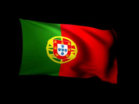 3D Rendering of the flag of Portugal waving in the wind.