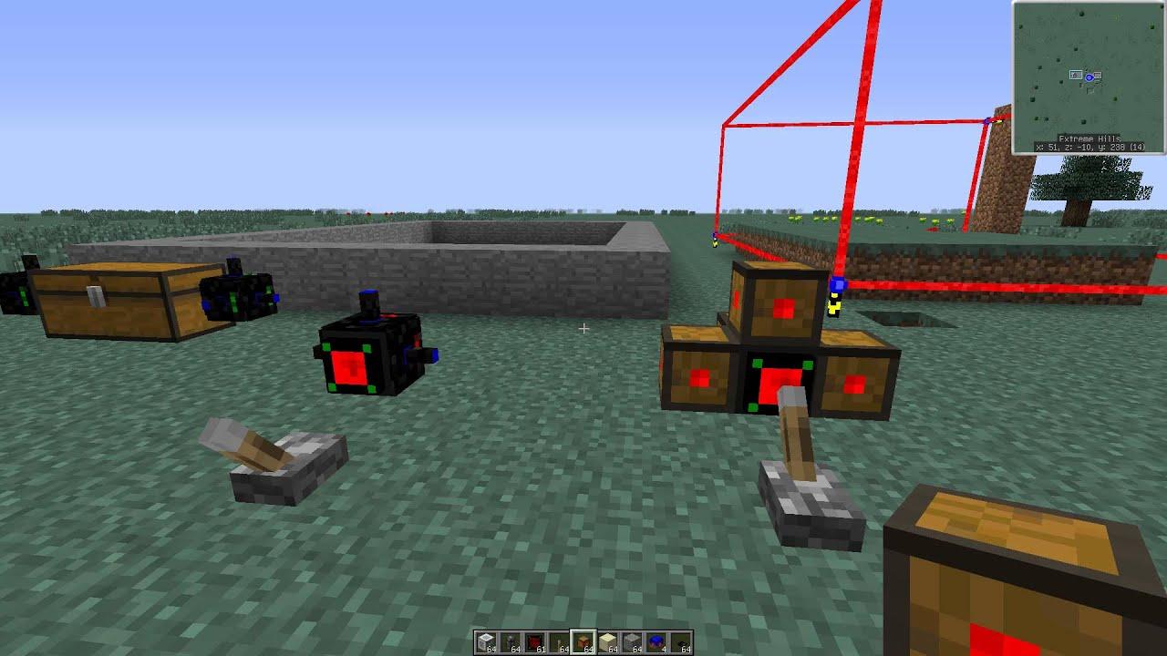 Как сделать робота шахтера в майнкрафте