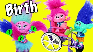 Trolls Poppy Branch Have Baby Birth Hospital Birthday Doctor Satin Surprise Babies Herman DjMullikin