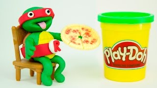 Softee Dough Teenage Mutant Ninja Turtles Figurine Maker Nickelodeon PlayDoh TMNT by Fuzzy Puppet