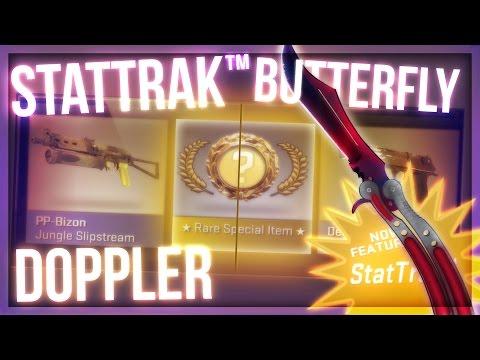 CS:GO STATTRAK BUTTERFLY DOPPLER UNBOXING