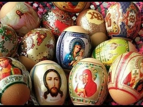 Как украсить яйца на Пасху пленкой