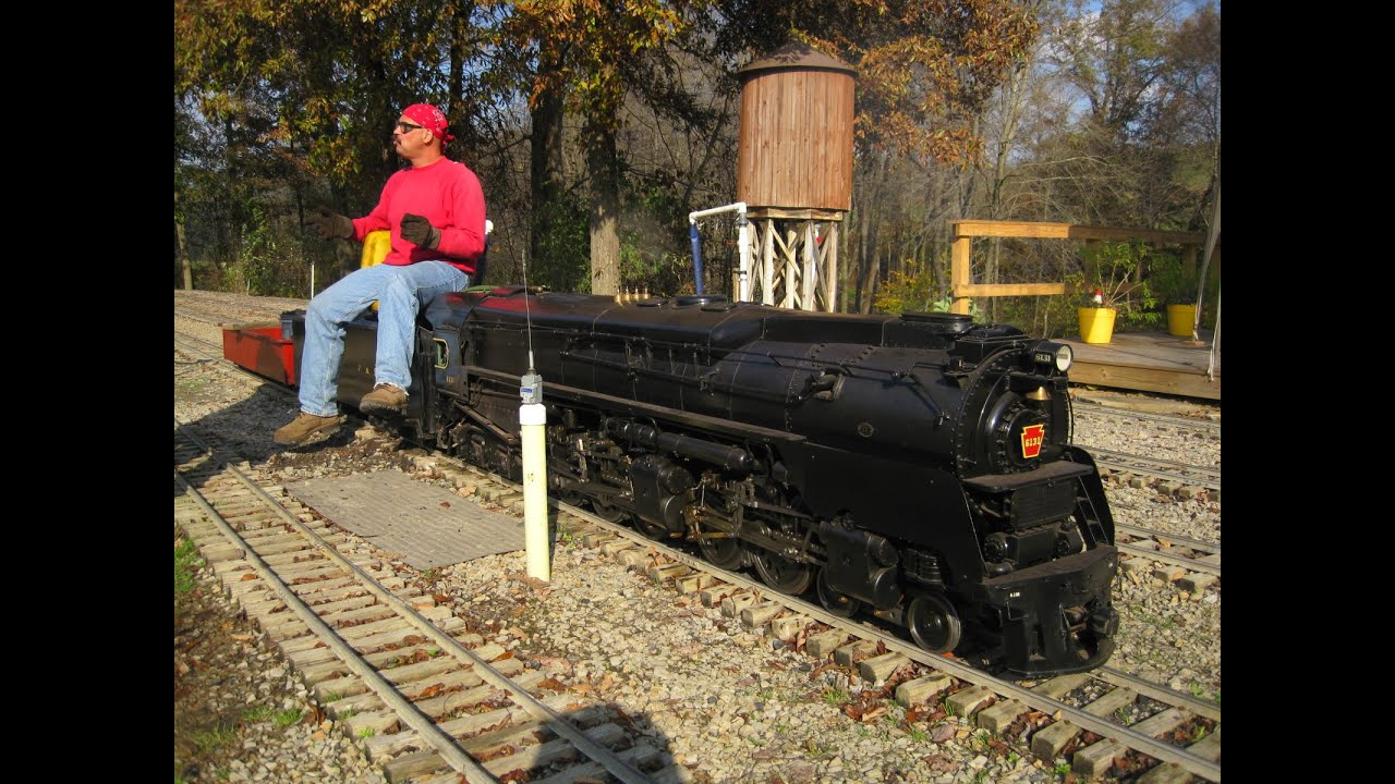live steam locomotives at mill creek central backyard train youtube