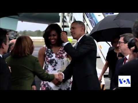 Obama Arrives in Cuba
