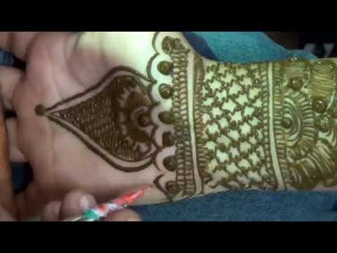 Easy Beautiful Indian Mehndi:mehendi Application Tutorial Step By Step video