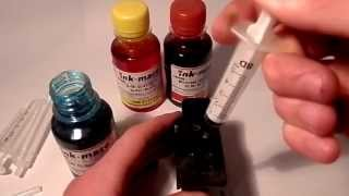 How to Refill Canon  Colour Ink Cartridge