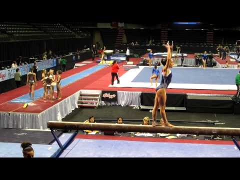 Jordyn Wieber - 2012 Kellogg&#039;s Pacific Rim Championships Podium Training - Balance Beam