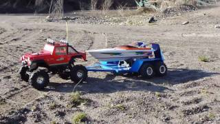 RC CRAWLER, RC BOAT & CUSTOM TRAILER ON EXPEDITION