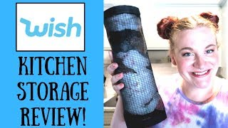 STORAGE ITEM FROM WISH! PLASTIC BAG DISPENSER REVIEW FROM WISH APP!