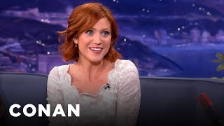 Brittany Snow Trained Her Dog With A Cartoon Voice - CONAN on TBS