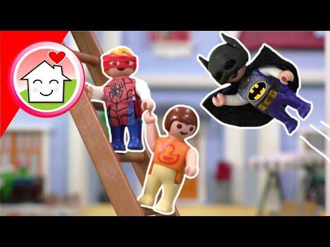 Playmobil Familie Hauser - Superhelden - Geschichte mit Anna und den Zwillingen