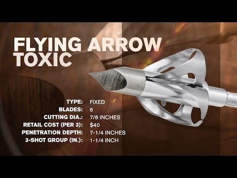 Broadhead Test & Review: Flying Arrow Toxic. Cyclone