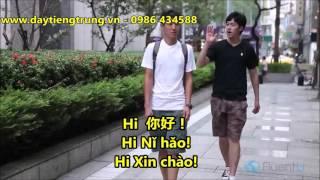 Tự Học tiếng Trung với chủ đề Hỏi đường đi siêu thị